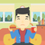 man · eten · hamburger · cafe · vector · ontwerp - stockfoto © rastudio