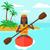 女性 · ライディング · カヌー · アジア · ベクトル · デザイン - ストックフォト © rastudio
