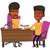 twee · zakenlieden · zakelijke · bijeenkomst · praten · drinken · koffie - stockfoto © rastudio