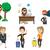vector set of people using modern technologies stock photo © rastudio