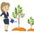 молодые · кавказский · деловой · женщины · деревья · три - Сток-фото © rastudio