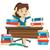 vrouw · vergadering · boeken · onderwijs · kennis - stockfoto © rastudio