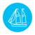 sailboat line icon stock photo © rastudio