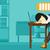 nő · alszik · munkahely · fáradt · alkalmazott · laptop · billentyűzet - stock fotó © rastudio