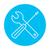 screwdriver and wrench tools line icon stock photo © rastudio