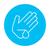 herido · palma · lavado · delgado · línea · icono - foto stock © rastudio
