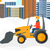 man plowing snow stock photo © rastudio