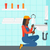 женщину · раковина · азиатских · женщины · водопроводчика - Сток-фото © rastudio