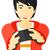 熱狂的な · 少年 · 漫画 · 芸術 · レトロな · 図面 - ストックフォト © rastudio