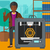 férfi · három · nyomtató · afrikai · áll · 3D - stock fotó © rastudio