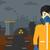 adam · kimyasal · takım · elbise · toksik · atmosfer - stok fotoğraf © rastudio