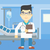 doctor with file vector illustration stock photo © rastudio