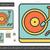 vintage · vinyl · speler · lijn · icon · vector - stockfoto © rastudio