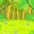 緑 · 林間の空き地 · 森林 · 雨 · ツリー · 葉 - ストックフォト © rastudio