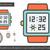 vector · negocios · mano · cara · reloj - foto stock © rastudio