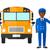 автобус · драйвера · иллюстрация · работу · работу · парень - Сток-фото © rastudio