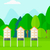 background of beehives in meadow stock photo © rastudio