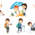 vector set of traveling people stock photo © rastudio