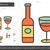 wine line icon stock photo © rastudio