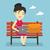 молодые · женщину · сидят · подушка · ноутбука · счастливым - Сток-фото © rastudio