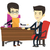 business · cooperazione · due · imprenditori · moderno · illustrazione - foto d'archivio © rastudio