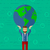 dünya · dünya · haritası · yeşil · simgeler · çevre - stok fotoğraf © rastudio