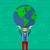 man holding globe stock photo © rastudio