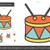 ドラム · ベクトル · アイコン · 孤立した · 白 - ストックフォト © rastudio