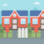 voorstads- · huis · huizen · vector · ontwerp · illustratie - stockfoto © RAStudio