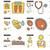medicine line icon set stock photo © rastudio