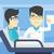 врач · пациент · азиатских · указывая · пальца · вверх - Сток-фото © rastudio