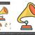 klasszikus · bakelit · játékos · vonal · ikon · vektor - stock fotó © rastudio