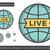 globo · viver · assinar · linha · ícone - foto stock © rastudio