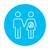 husband with pregnant wife line icon stock photo © rastudio