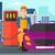 человека · заполнение · вверх · топлива · автомобилей · азиатских - Сток-фото © rastudio