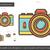 retro · fotocamera · line · icona · vettore · isolato - foto d'archivio © rastudio