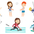 vector set of sport characters stock photo © rastudio