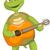 grappig · schildpad · gitarist · geïsoleerd · witte - stockfoto © RAStudio