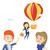 business woman hanging on balloon stock photo © rastudio