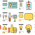 human resources line icon set stock photo © rastudio