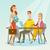 empresária · empresário · parceria · reunião · vetor · colaboração - foto stock © rastudio