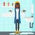 kobieta · rozpacz · stałego · umywalka · łazienka · wektora - zdjęcia stock © rastudio