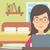 nő · készít · online · ül · laptop · kezek · magasban - stock fotó © rastudio