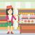 woman refusing junk food vector illustration stock photo © rastudio