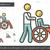 disability line icon stock photo © rastudio