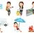 vector set of traveling people stock photo © rastudio