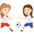 футбола · мяча · Футбол · два - Сток-фото © rastudio