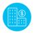 condominium with dollar symbol line icon stock photo © rastudio