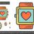 сердце · знак · линия · икона · веб · мобильных - Сток-фото © rastudio
