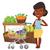 woman with shopping list vector illustration stock photo © rastudio